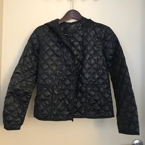 JCrew Navy Quilted Puffy Jacket w/hood - XS